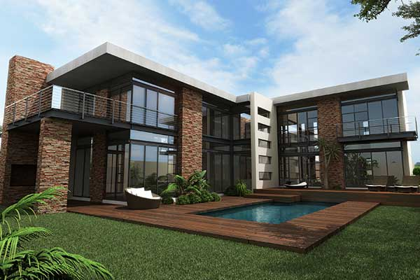 3D Rendering of House - 100 Jan Smuts - Forest Town